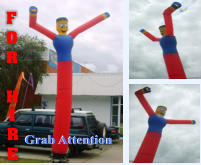 Hire a Sky Dancer - to grab attention of passing traffic